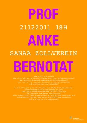 Mittwochsvortrag 21.12.2011 – Prof. A.Bernotat