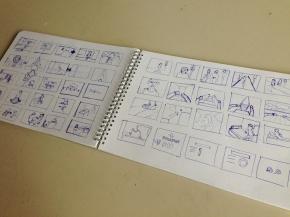 """Storyboarding in """"filmische Präsentation"""""""