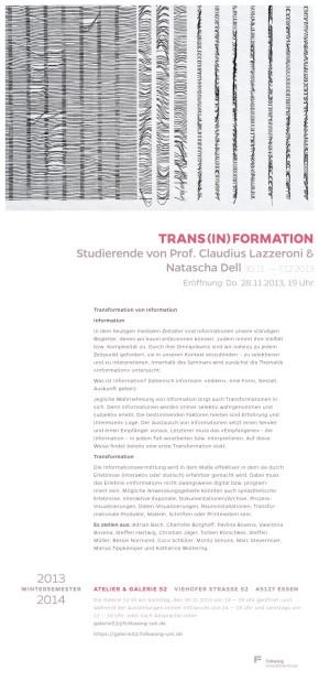 trans(in)formation – Ausstellung
