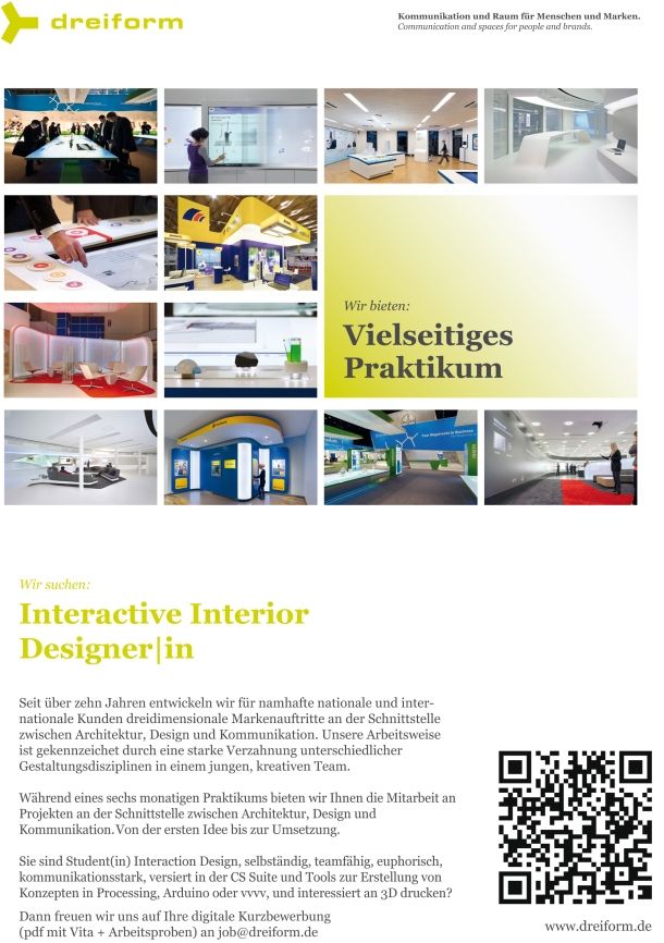 dreiform_Praktikum Interactive Interior