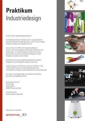 Designstudio aroma_ID suchtPraktikanten!