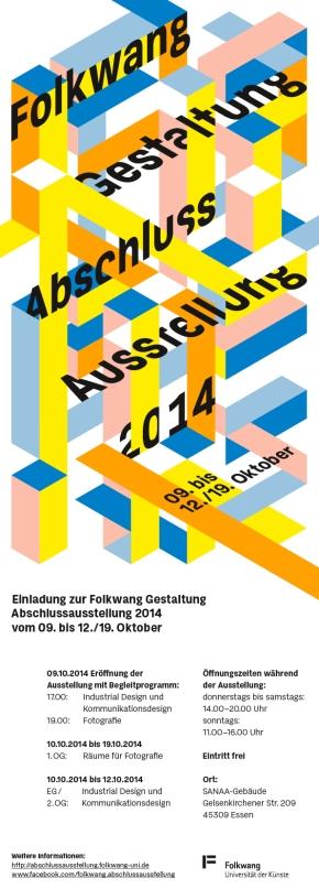 Folkwang Gestaltung Abschlussausstellung 2014