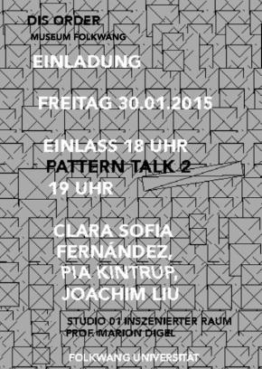 1. Sem. ID: Ausstellung DisOrder im Museum Folkwang – Auseinandersetzung mit Mustern undStrukturen