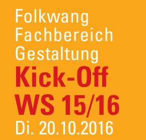 Kick-Off WS 2015 –Termin
